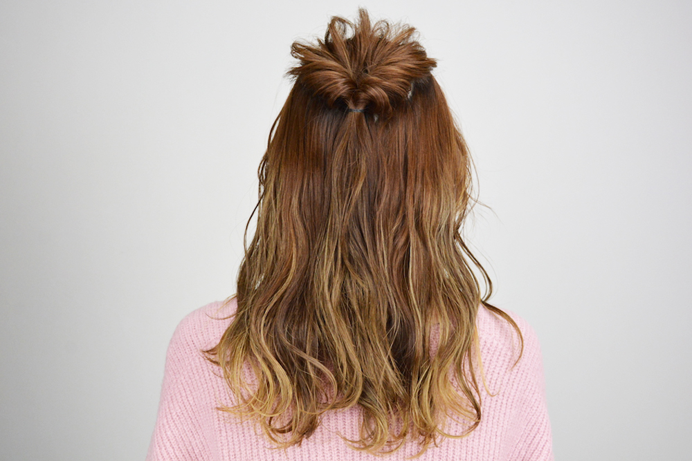髪型アレンジ リボン