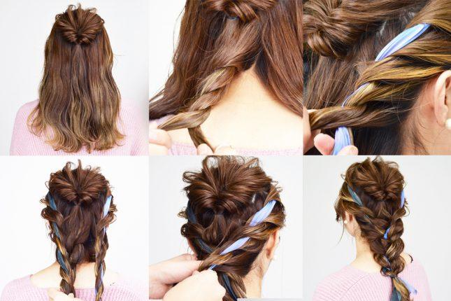 マジェステ・リボン編み込みも♡美容師に聞く、旬のヘアアクセサリーを使ったヘアアレンジ・前編
