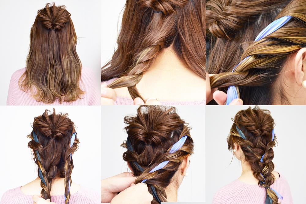 マジェステ・リボン編み込みも♡美容師に聞く、旬のヘアアクセサリーを使ったヘアアレンジ・前編 女性キレイ研究所