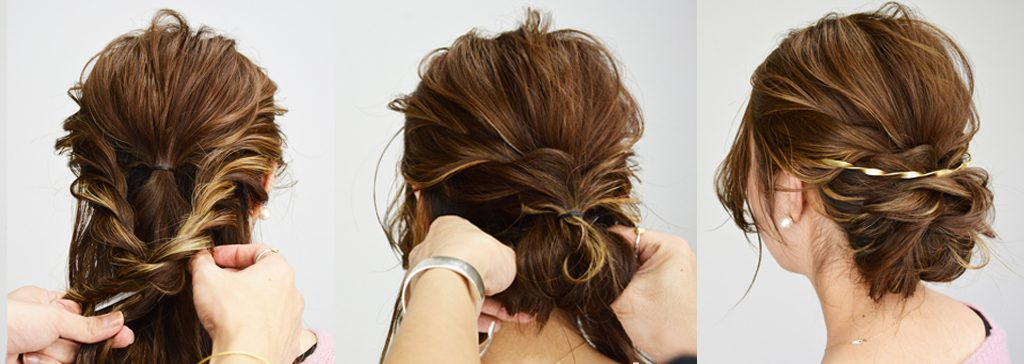 フレームピン・バックカチューシャも♡美容師に聞く、旬のヘアアクセサリーを使ったヘアアレンジ・後編