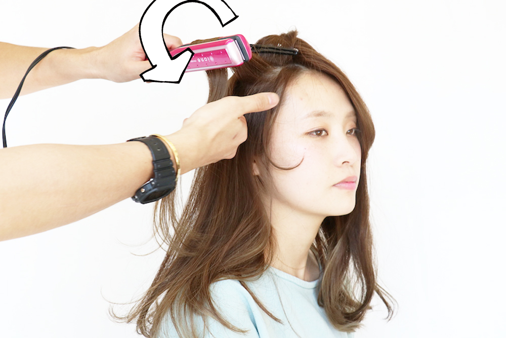 長い 前髪 巻き 方 ストレート アイロン